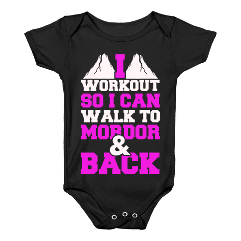 Workout Fellowship Style Baby Onesy