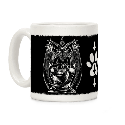 Pet Cats. Hail Satan (Without Words) Coffee Mug