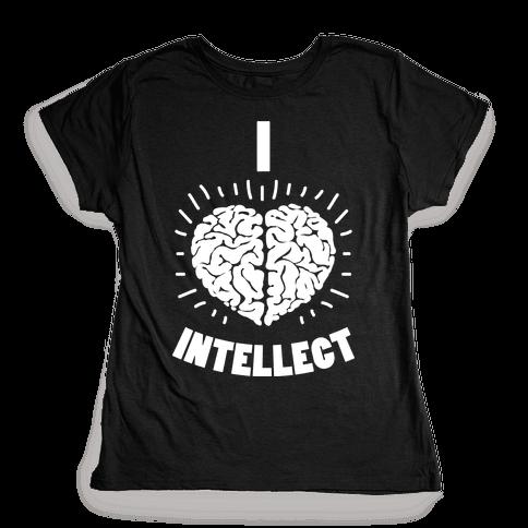 I Heart Intellect Womens T-Shirt