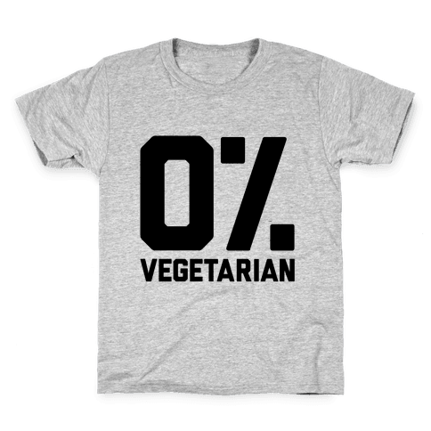 0% Vegetarian Kids T-Shirt