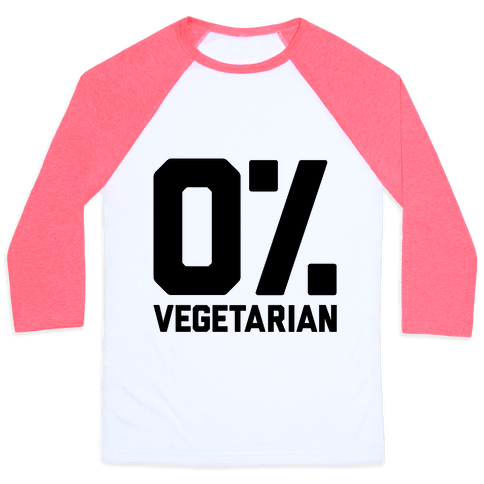 0% Vegetarian Baseball Tee