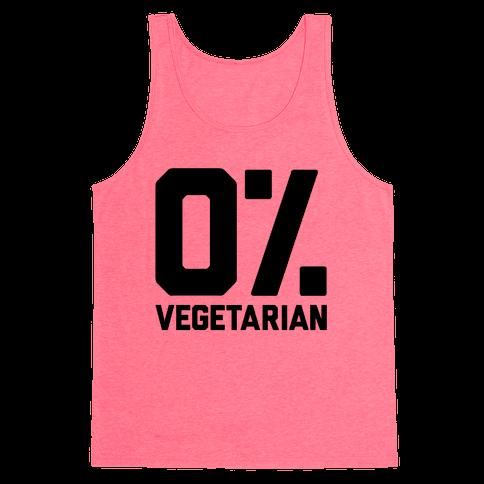 0% Vegetarian Tank Top