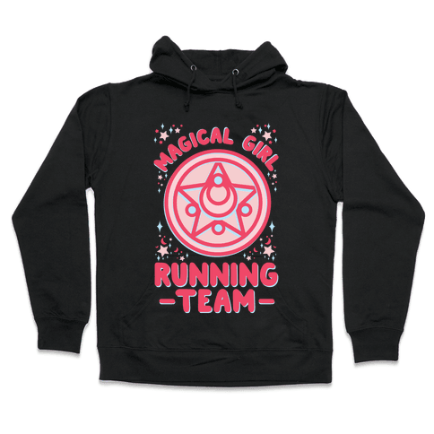 Magical Girl Running Team Hooded Sweatshirt