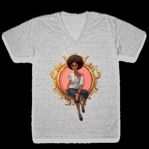 Class and Confidence V-Neck Tee Shirt