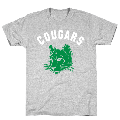 Cougar Red & Black Mens T-Shirt