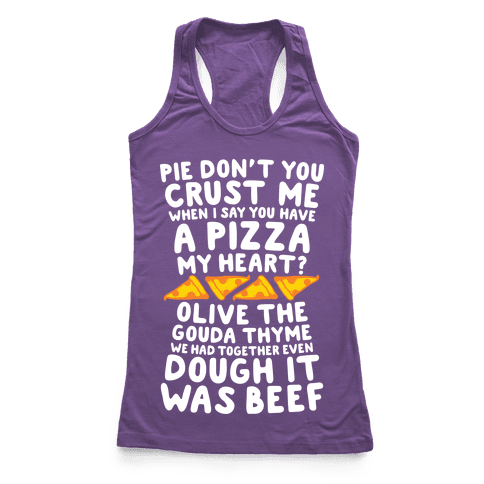 A Pizza My Heart Racerback Tank Top
