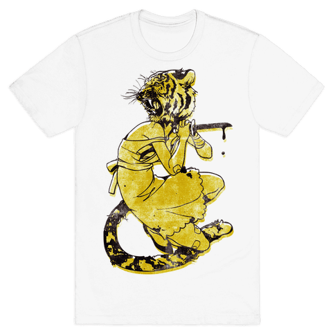 Tiger Woman Mens T-Shirt