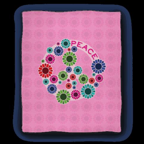 Floral Peace Sign Blanket