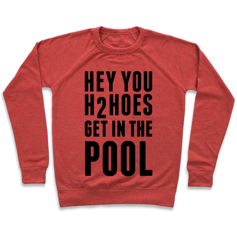Hey You H2Hoes Get In The Pool Pullover