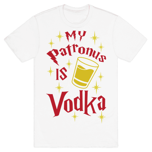 My Patronus Is Vodka Mens T-Shirt