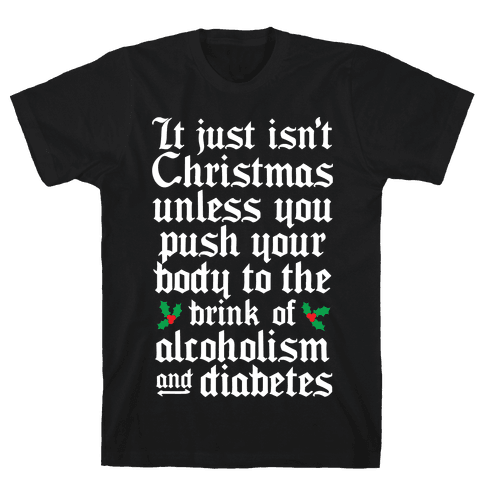 Alcoholism And Diabetes Mens T-Shirt