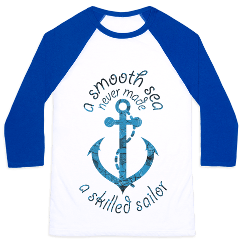 Smooth Sea Anchor Baseball Tee