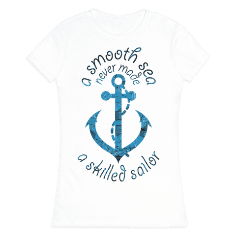 Smooth Sea Anchor Womens T-Shirt