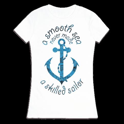 Smooth Sea Anchor Womens T-Shirt