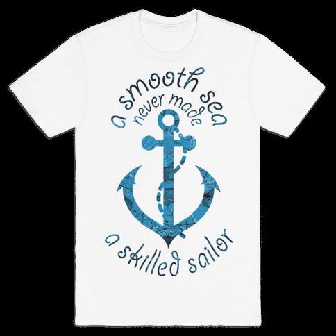 Smooth Sea Anchor Mens T-Shirt
