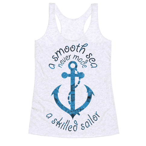 Smooth Sea Anchor Racerback Tank Top