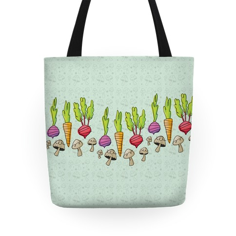 Retro Vegetable Pattern Tote