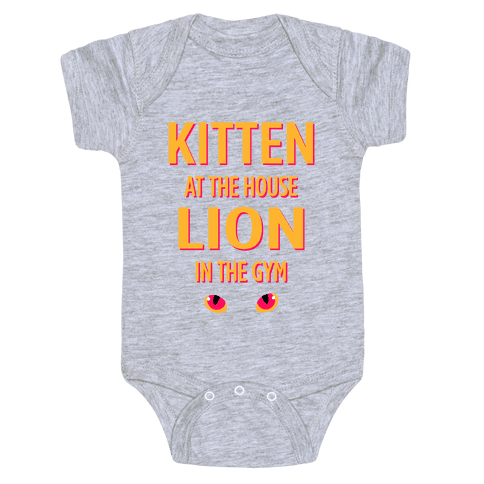 Kitten at the House Lion in the Gym Baby Onesy