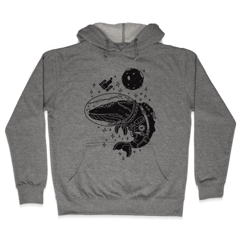 Space Whale  Hooded Sweatshirt