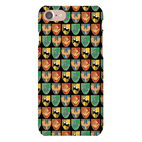 8-Bit Hogwarts Houses Phone Case