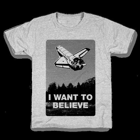I Want To Believe (NASA) Kids T-Shirt