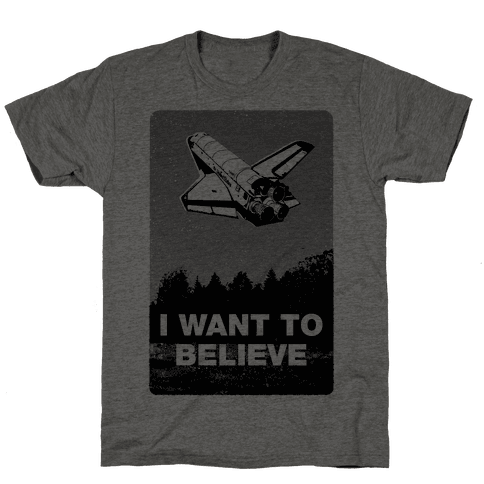 I Want To Believe (NASA) Mens T-Shirt