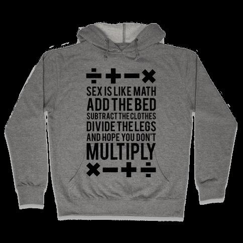 Sex Is Math (Black) Hooded Sweatshirt