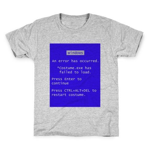 Blue Screen of Death Costume Kids T-Shirt