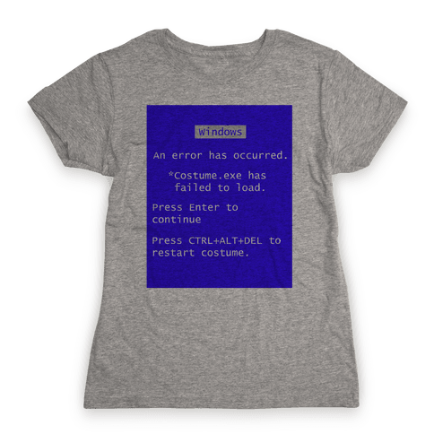 Blue Screen of Death Costume Womens T-Shirt