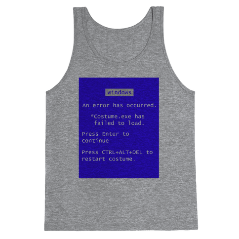 Blue Screen of Death Costume Tank Top
