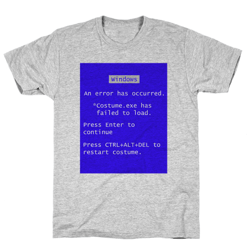 Blue Screen of Death Costume Mens T-Shirt