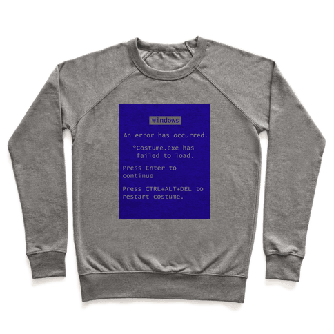 Blue Screen of Death Costume Pullover