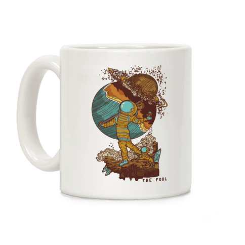 The Fool In Space Coffee Mug