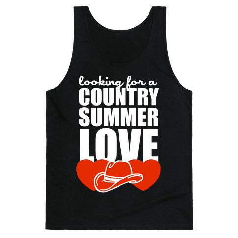 Country Summer Love (Dark Tank) Tank Top