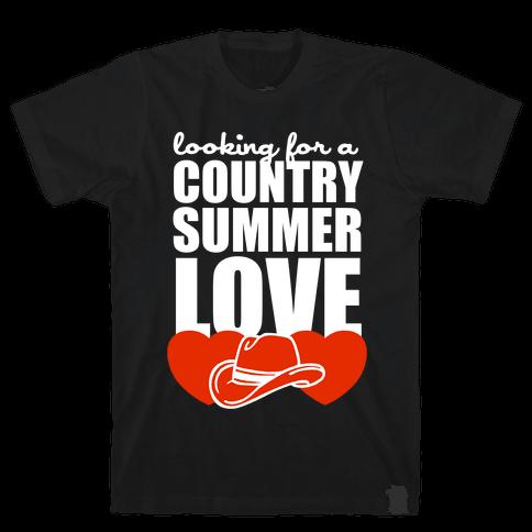 Country Summer Love (Dark Tank) Mens T-Shirt