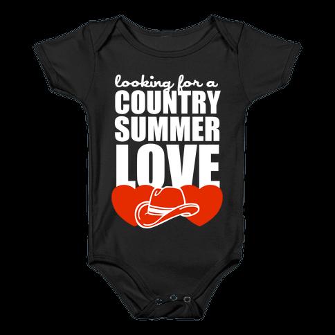 Country Summer Love (Dark Tank) Baby Onesy