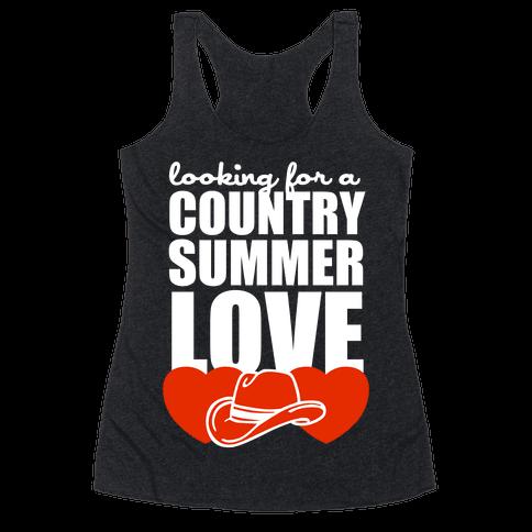 Country Summer Love (Dark Tank) Racerback Tank Top