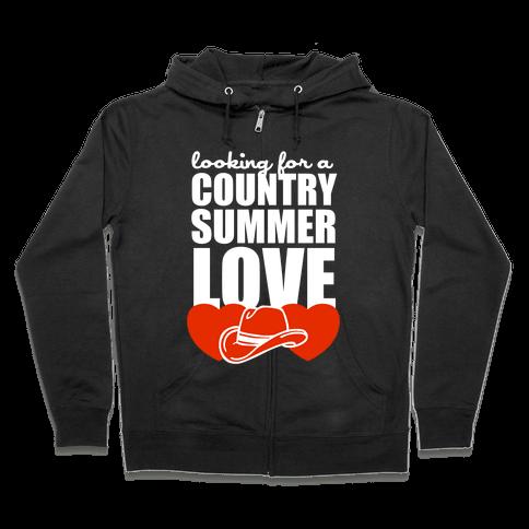 Country Summer Love (Dark Tank) Zip Hoodie