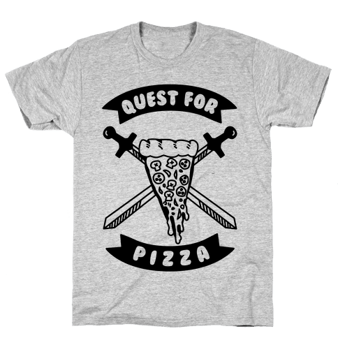 Quest for Pizza Mens T-Shirt