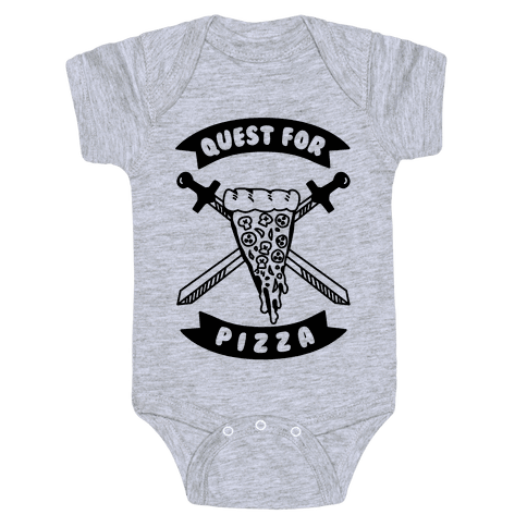 Quest for Pizza Baby Onesy