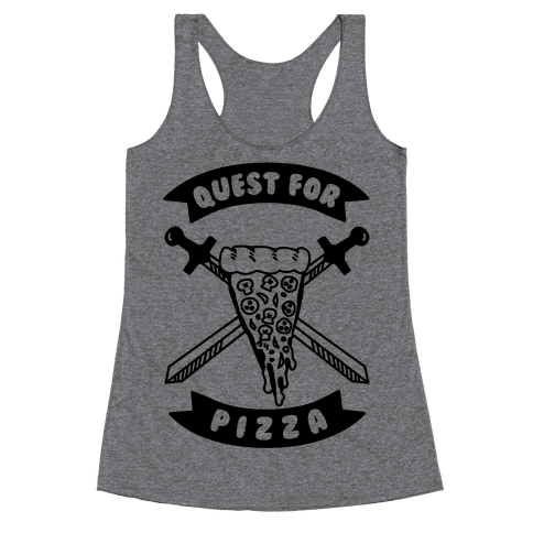 Quest for Pizza Racerback Tank Top