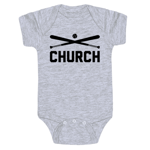 Baseball Church Baby Onesy