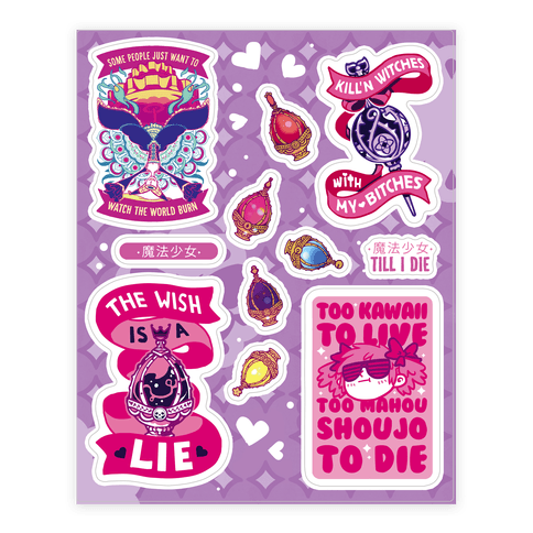 Magic Girl Till I Die Sticker and Decal Sheet