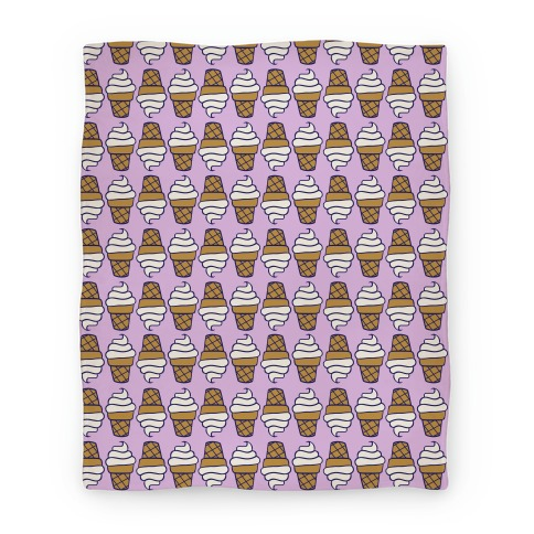 Vanilla Ice Cream Cone Pattern Blanket