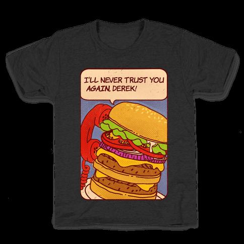 Burger Pop Art Comic Panel Kids T-Shirt