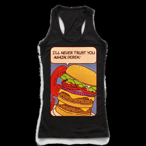 Burger Pop Art Comic Panel Racerback Tank Top