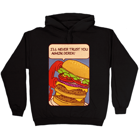 Burger Pop Art Comic Panel Hooded Sweatshirt