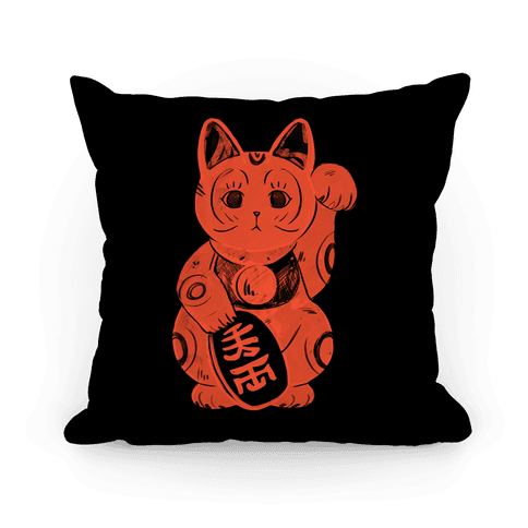 Japanese Lucky Cat Pillow