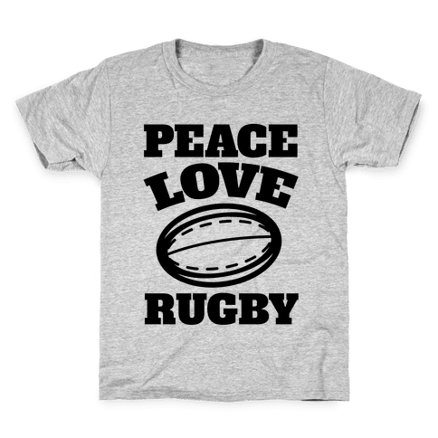 Peace Love Rugby Kids T-Shirt