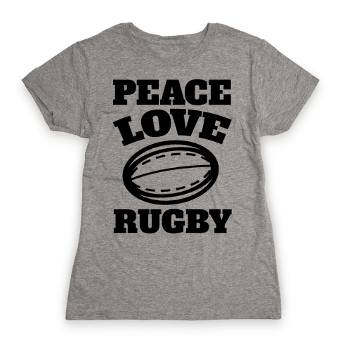 Peace Love Rugby Womens T-Shirt